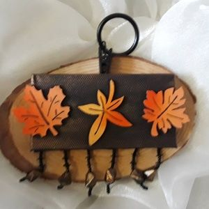 BeaslePunk Art Original Accents - Simply Autumn - 3D mini canvas with hanging ring